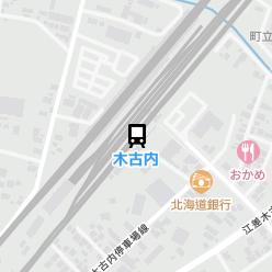 木古内駅の周辺地図