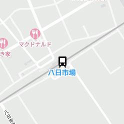 八日市場駅の周辺地図