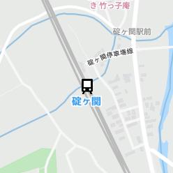 碇ヶ関駅の周辺地図