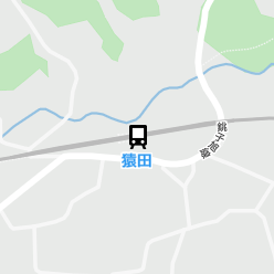 猿田駅の周辺地図