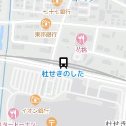 杜せきのした駅の周辺地図