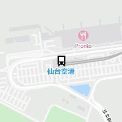 仙台空港駅の周辺地図