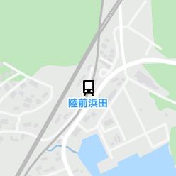 陸前浜田駅の周辺地図