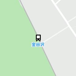 金谷沢駅の周辺地図