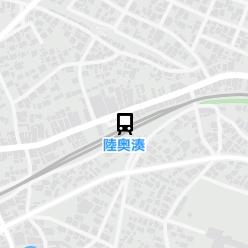 陸奥湊駅の周辺地図