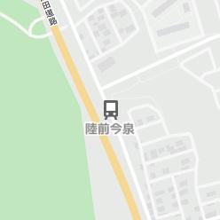 陸前今泉駅の周辺地図